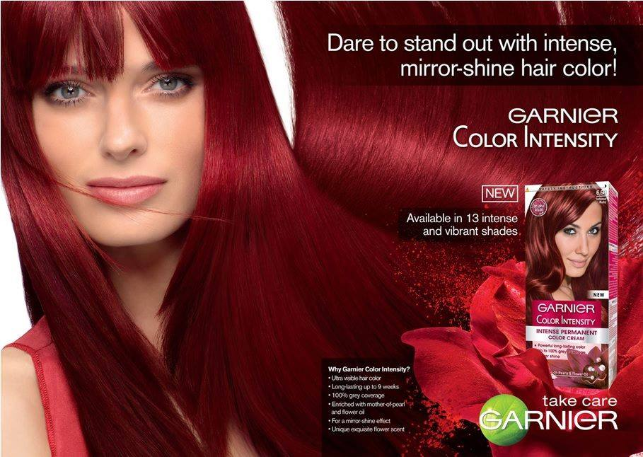 Garnier red hair color chart